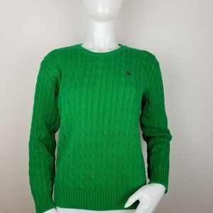 Polo by Ralph Lauren Lg Green Cable Knit Sweater